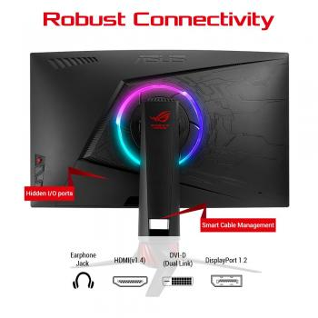 ASUS ROG Strix 68,58 cm (27 Zoll Full HD) Curved Monitor, 144Hz, FreeSync